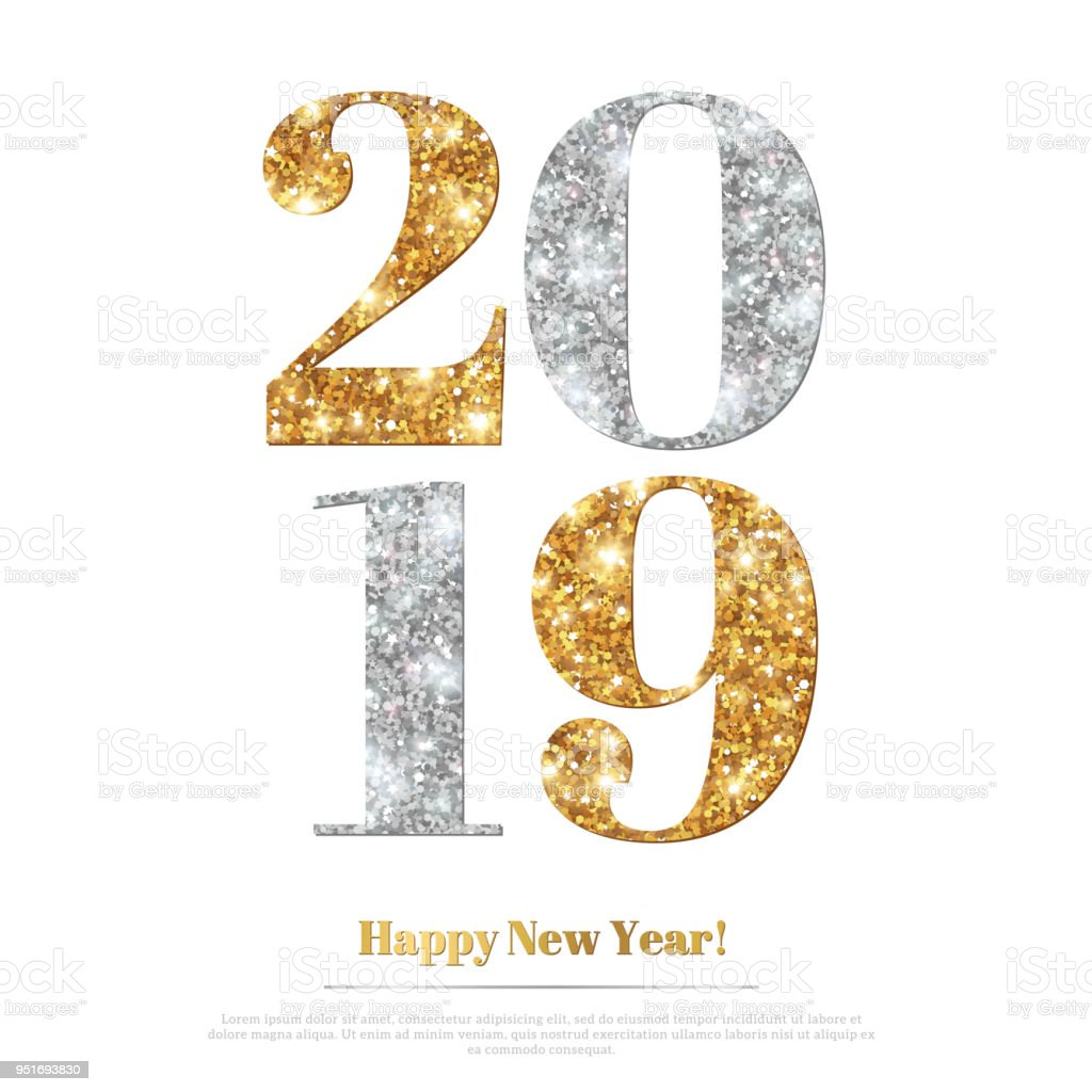 2019 Gold And Silver Stock Vector Art More Images Of 2019