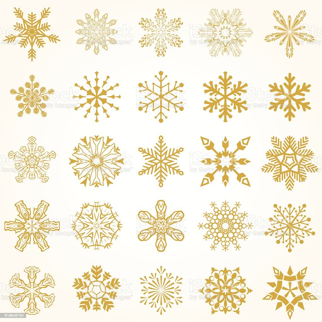gold and white snowflake background stock vector art more images