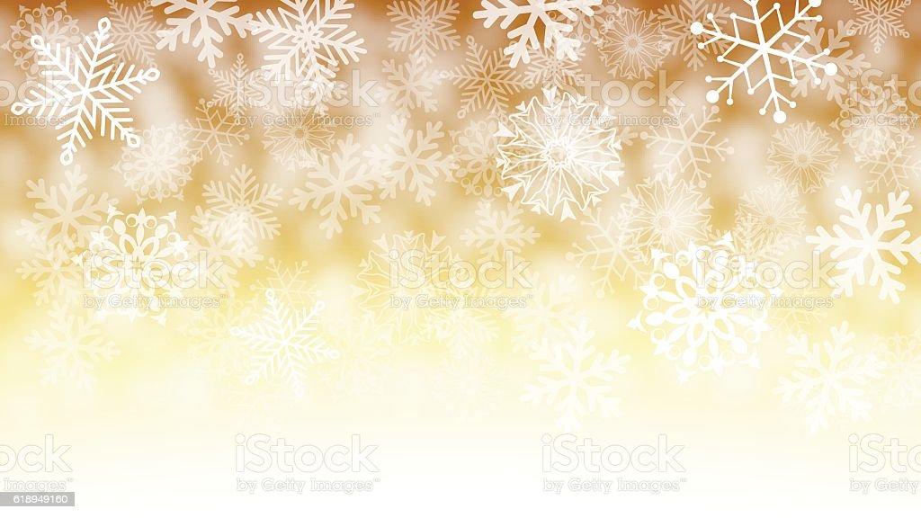 White snowflake background vector