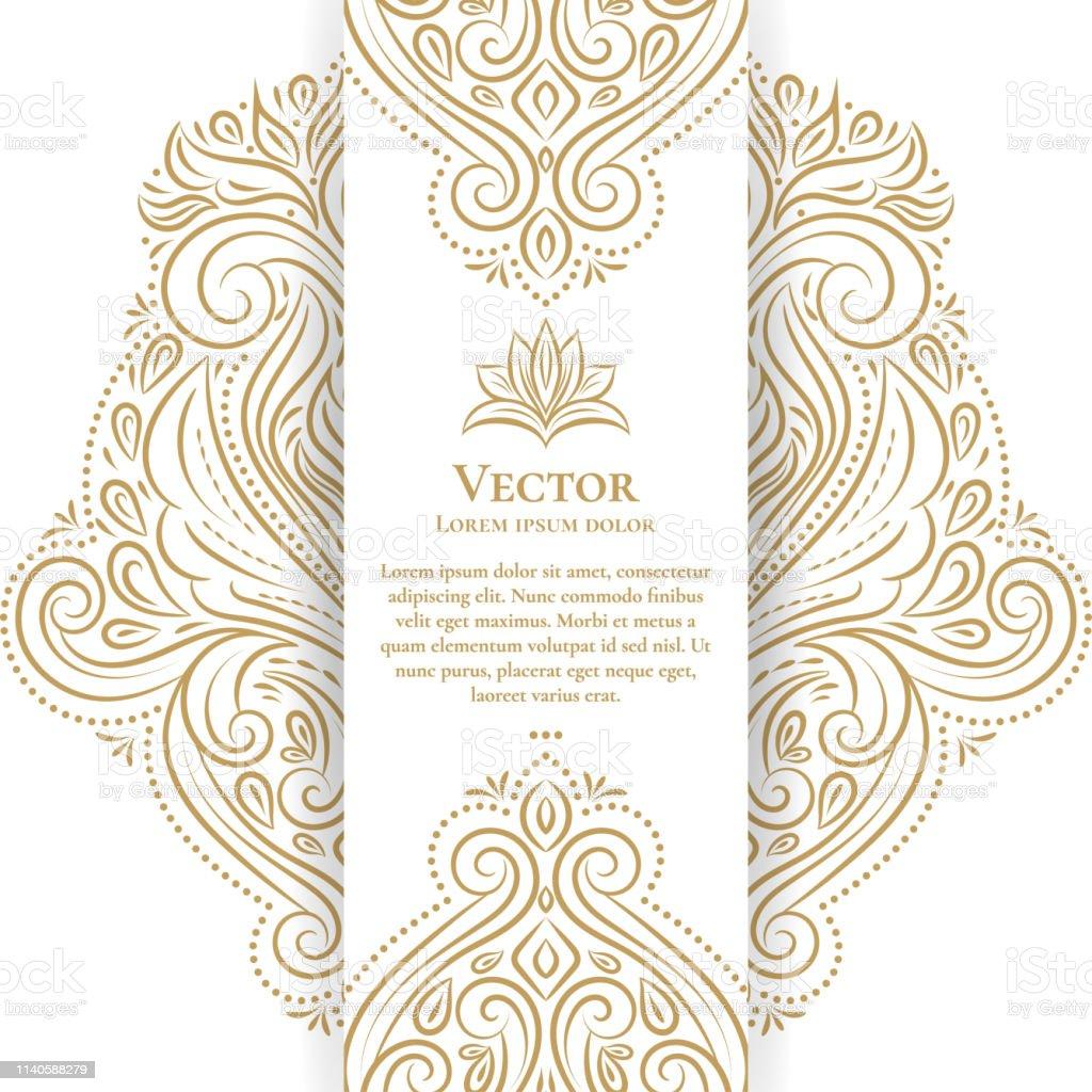 Conception De Carte De Voeux Vintage Or Et Blanc Modele Dornement De Vecteur De Luxe Ideal Pour Invitation Flyer Menu Brochure Carte Postale Fond Fond Decran Decoration Emballage Ou Toute Idee Souhaitee