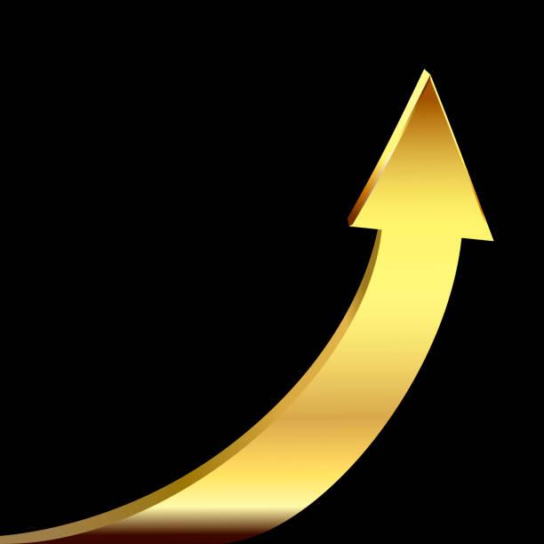 Goldpfeil als Symbol geschäftserfolgreich – Vektorgrafik