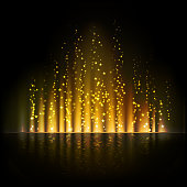 Gold aurora light. Shiny Abstract vector backgrounds