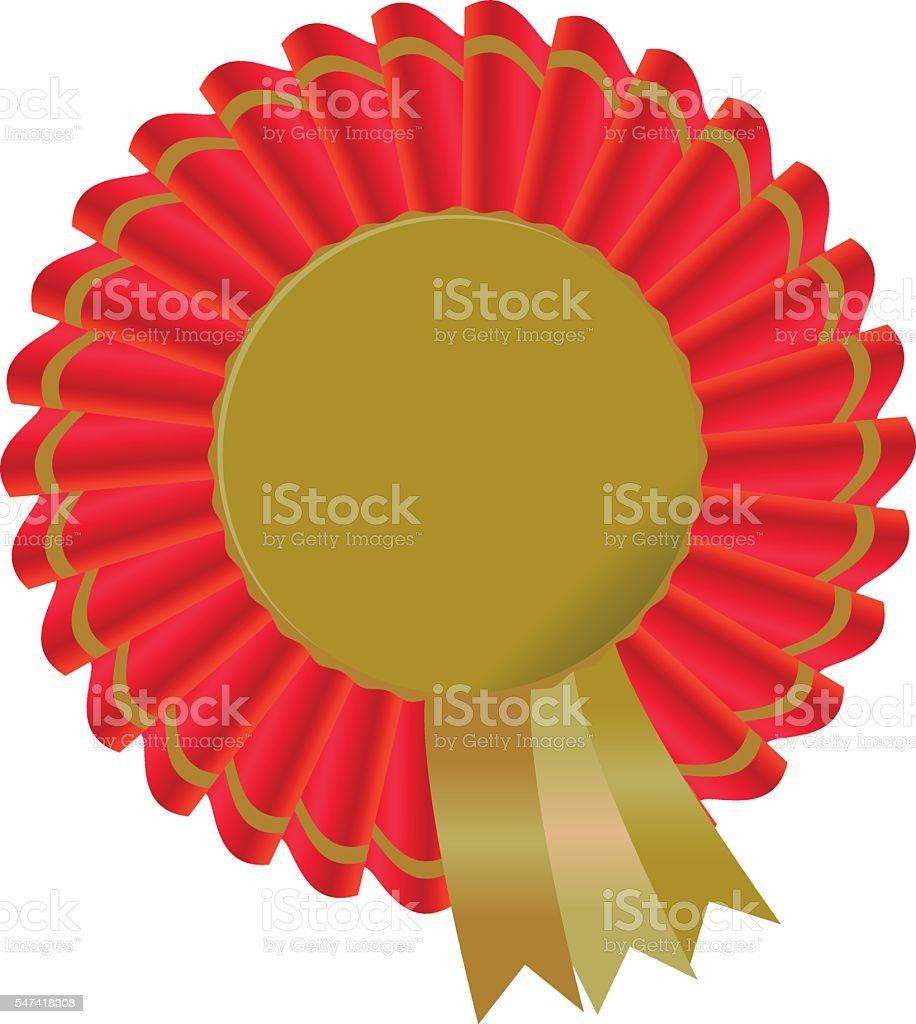 gold award certificate icon surrounded by red and gold ribbon