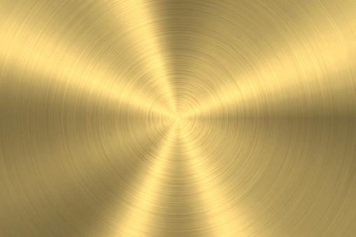 Gold background - Circular Brushed Metal Texture