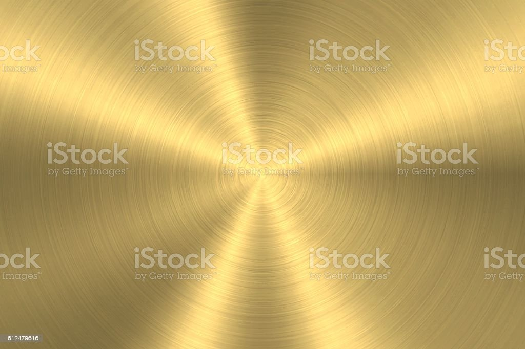 Gold background - Circular Brushed Metal Texture – Vektorgrafik