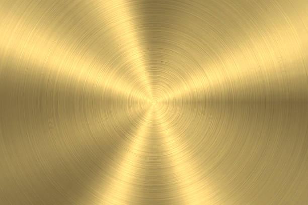 Gold background - Circular Brushed Metal Texture ベクターアートイラスト