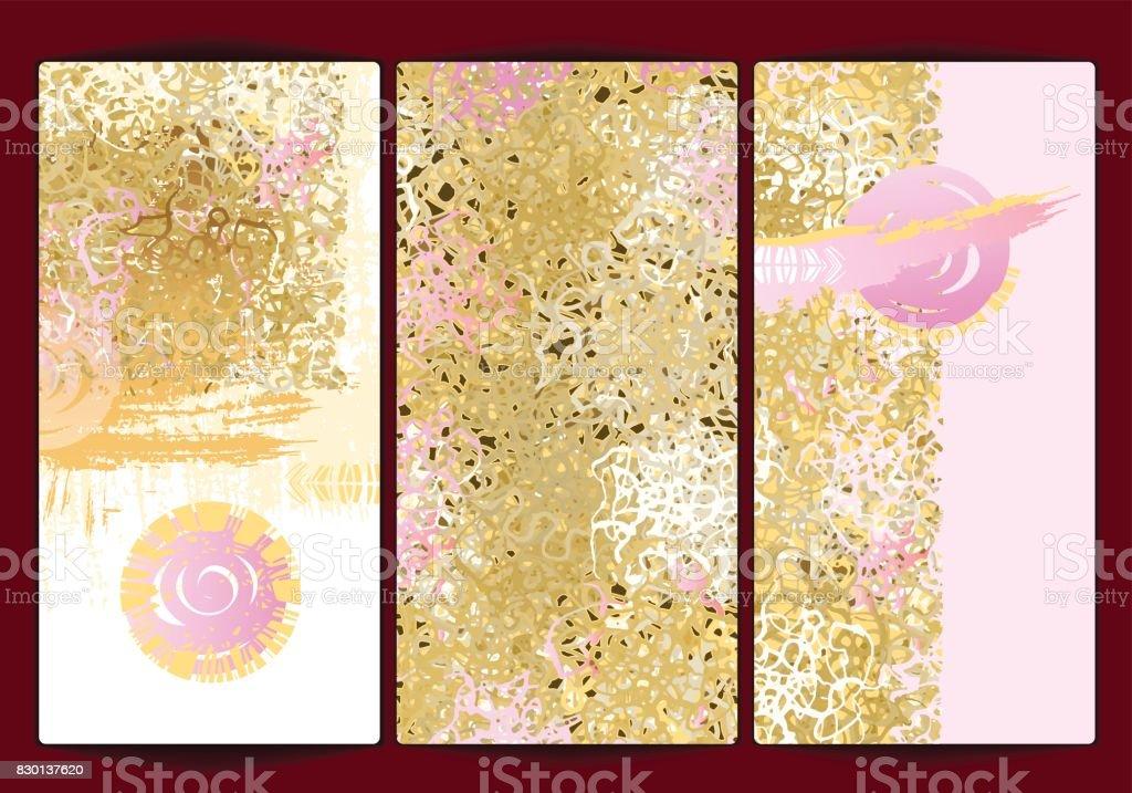 Gold background texture beauty pink vector art illustration