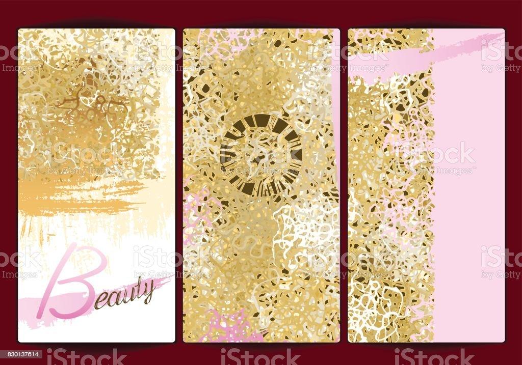 Gold background texture Beauty vector art illustration