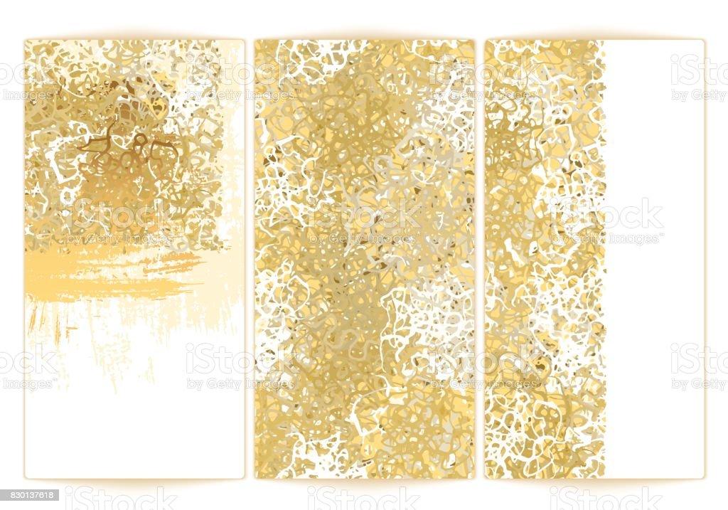 Gold background texture white vector art illustration