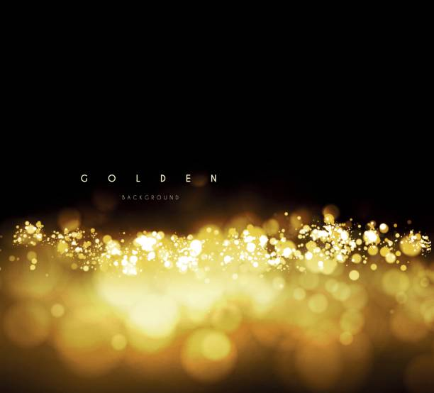 gold background with bokeh - gold stock illustrations