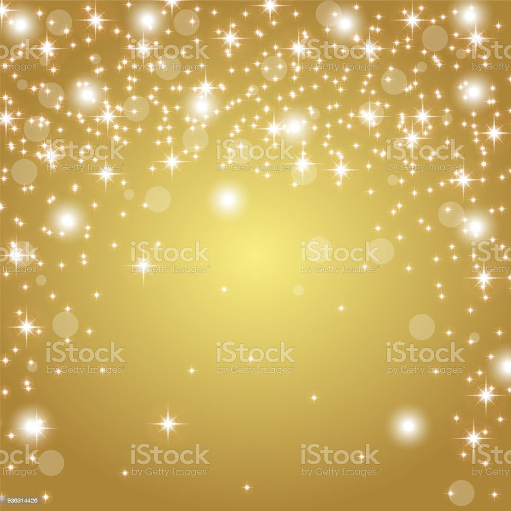 gold background with glitter vector art illustration