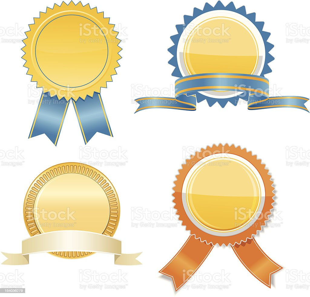 Gold badges royalty-free gold badges stock vector art & more images of award