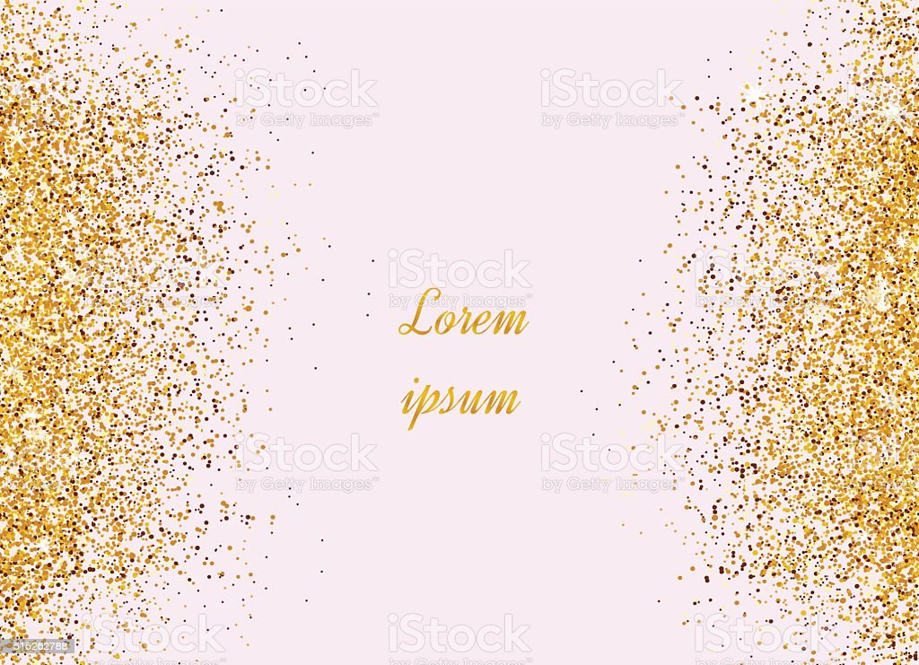 Gold Banner Sparkles On Pink Background Banners Logo Royalty Free