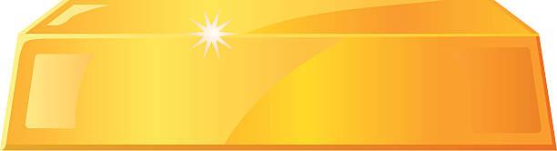 Gold bar vector icon Vector illustration of a gold bar. ingot stock illustrations