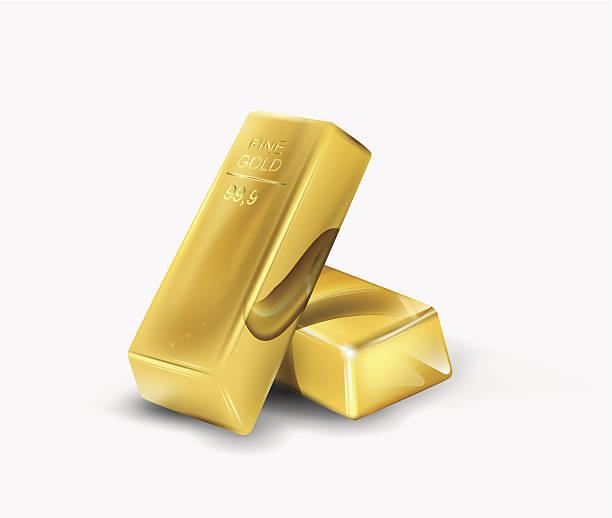 Gold bar Gold bar. Vector eps 10 ingot stock illustrations