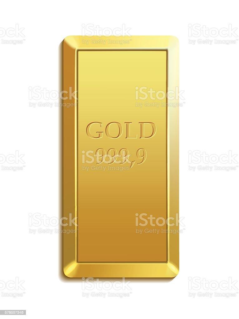 gold bar vector art illustration