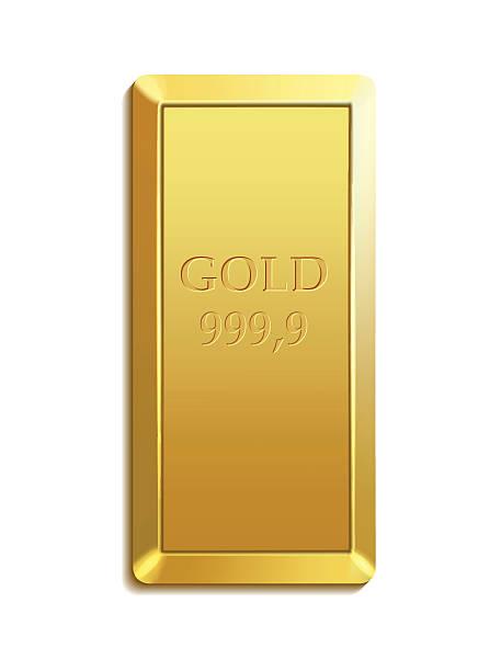 gold bar gold bar ingot stock illustrations
