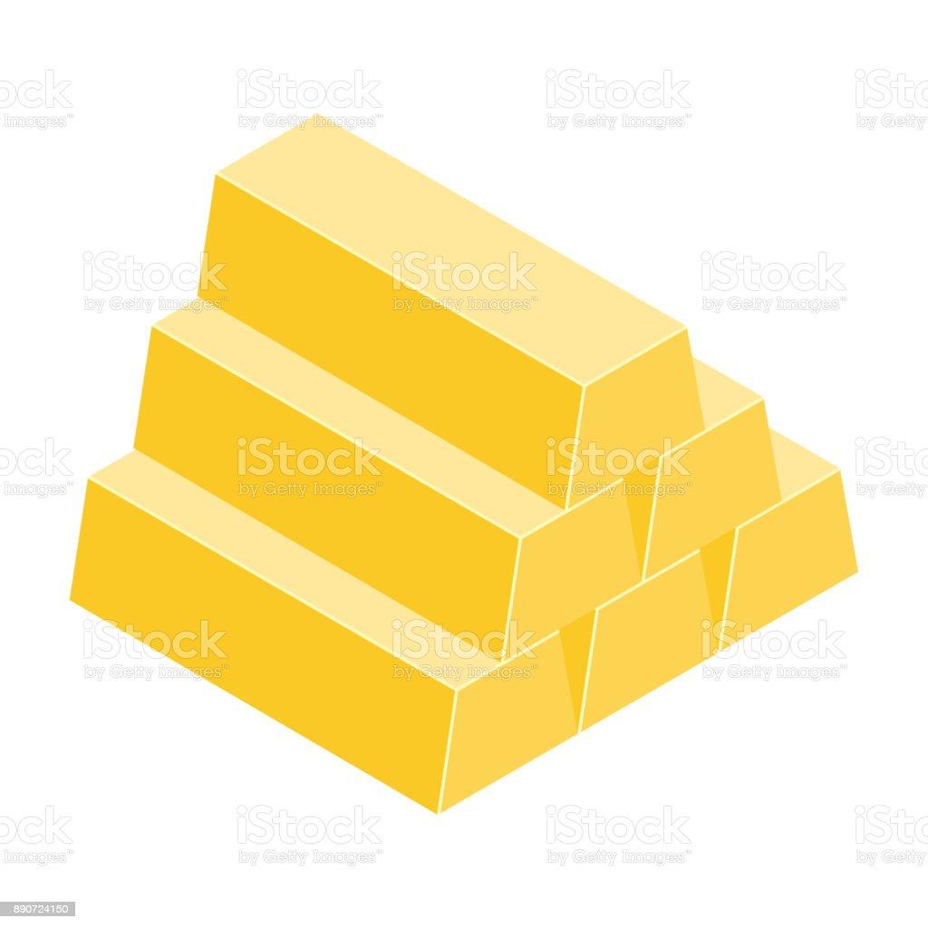 Gold bar vector vector art illustration