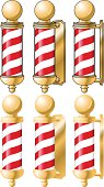 Gold Barber Pole from different angles