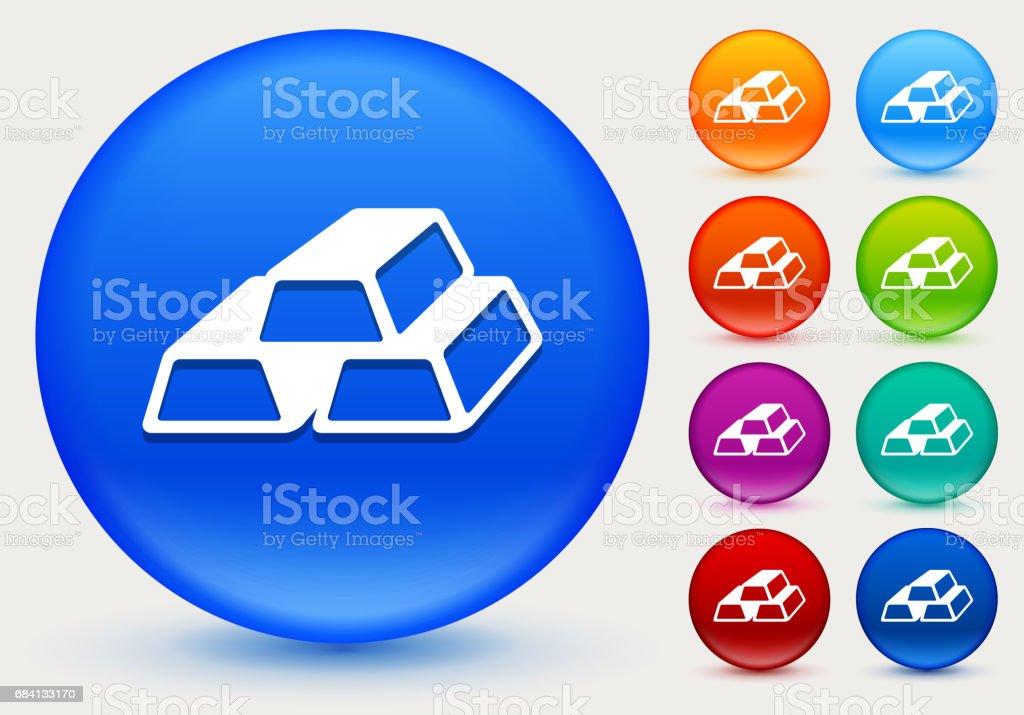 Gold Bars Icon on Shiny Color Circle Buttons gold bars icon on shiny color circle buttons - immagini vettoriali stock e altre immagini di arancione royalty-free