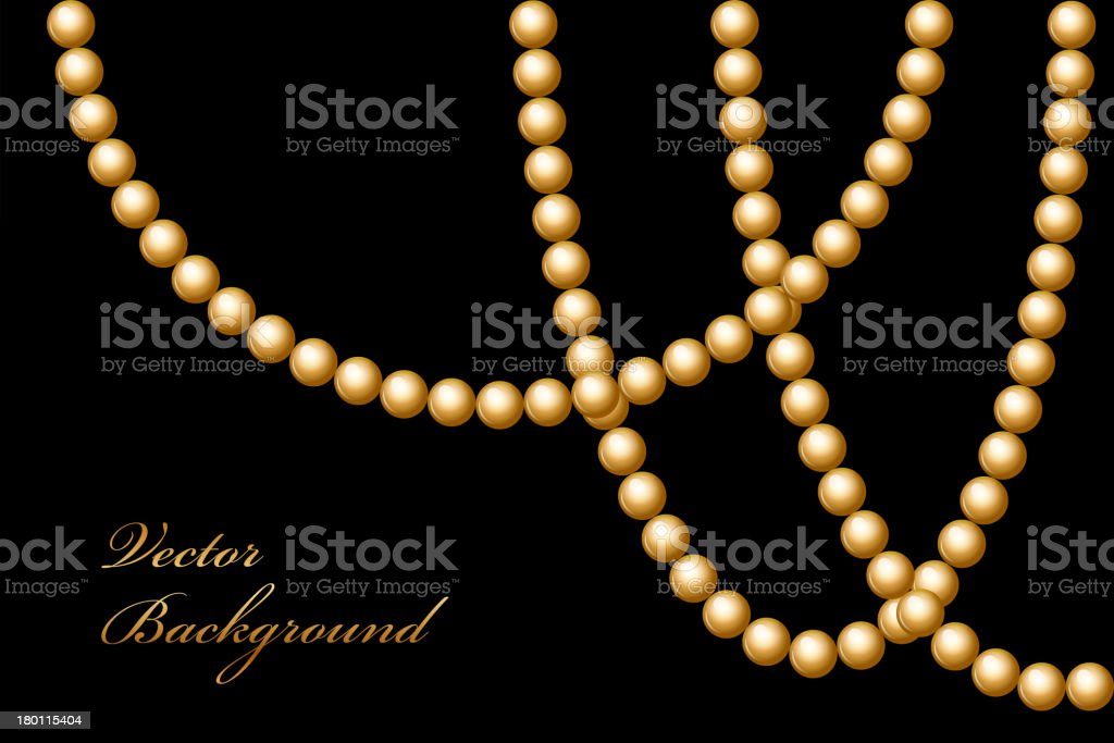 gold beads royalty-free stock vector art