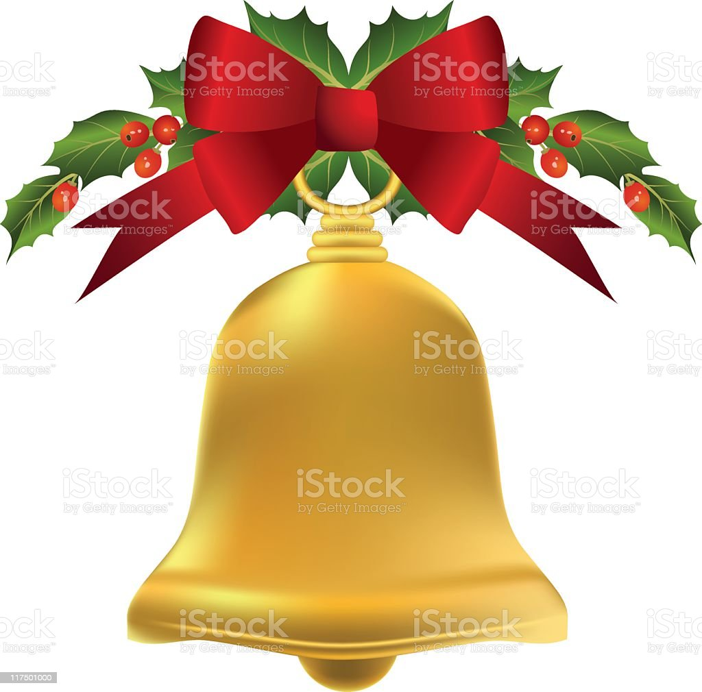Gold Bell royalty-free stock vector art