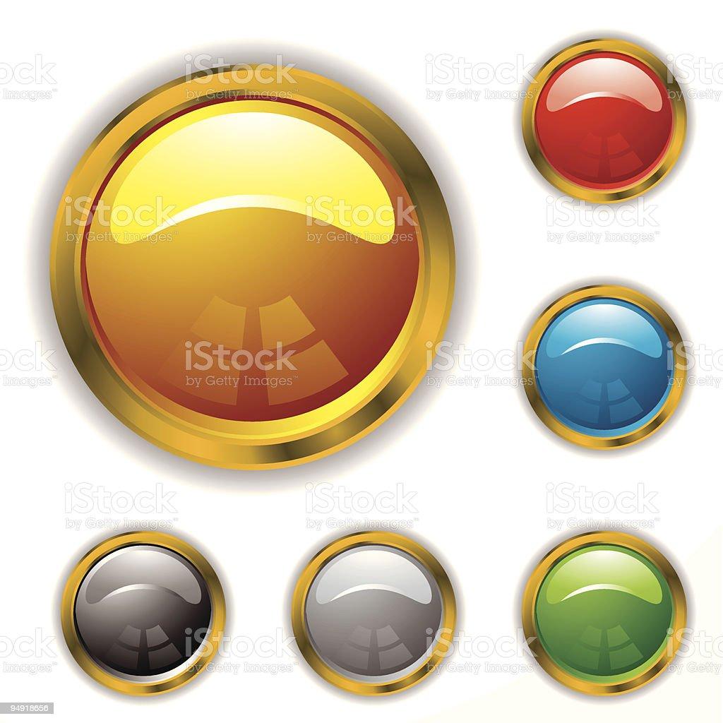 gold bevel gel royalty-free stock vector art