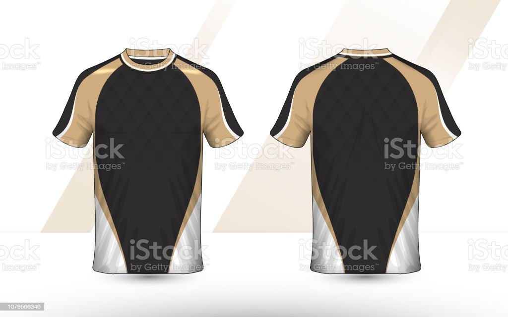 Gold Black And White Layout Esport Tshirt Design Template