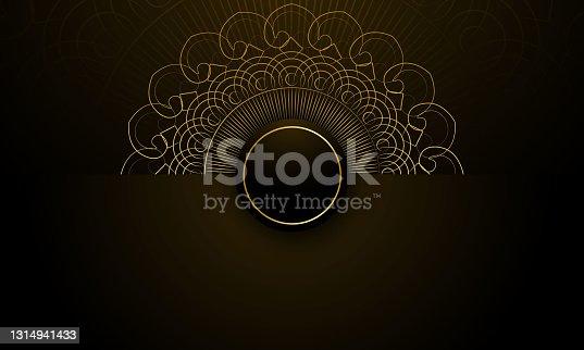 istock Gold black background design vector stock illustration 1314941433