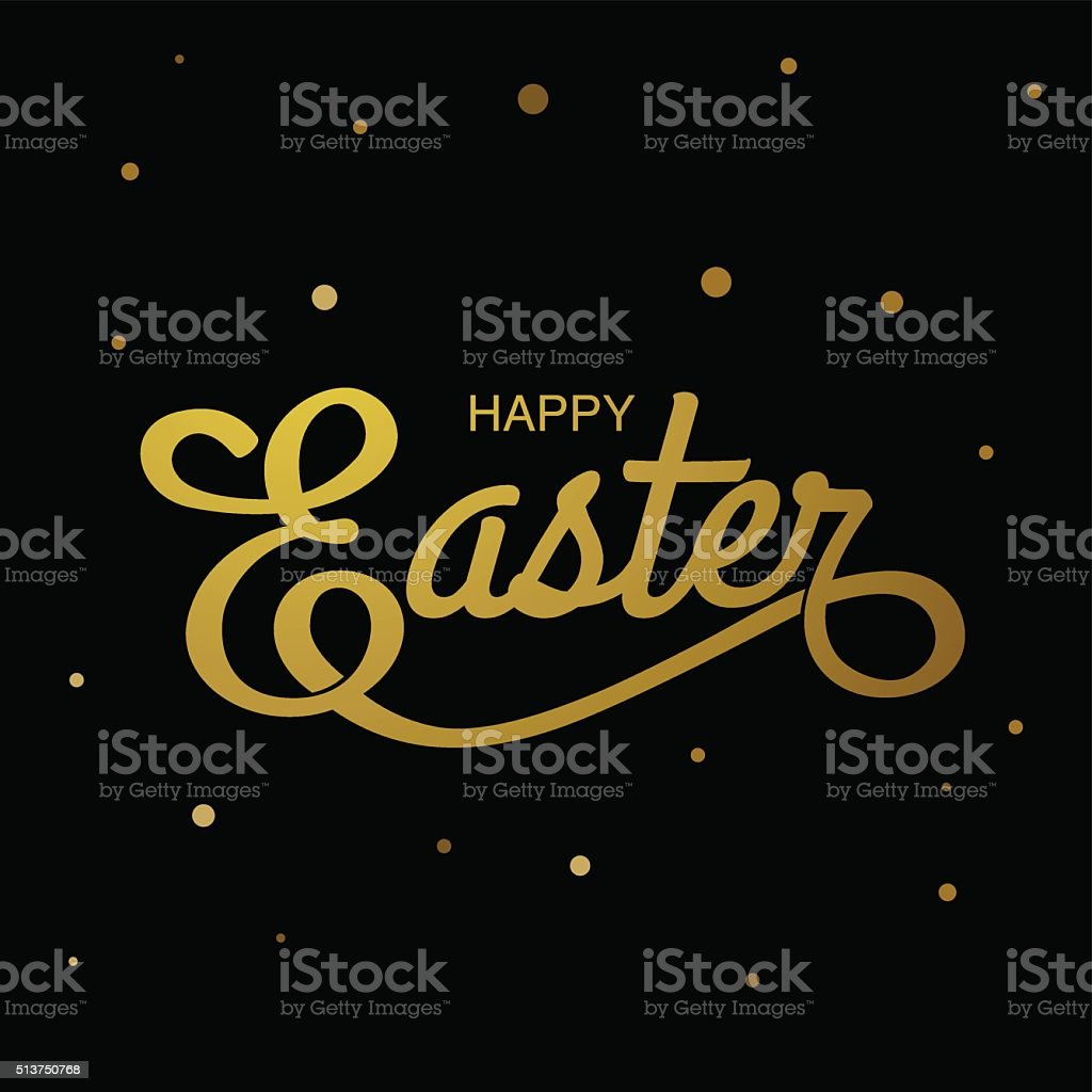 , gold ,black background vector art illustration