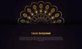 istock Gold black ornament frame vector stock illustration 1306503613