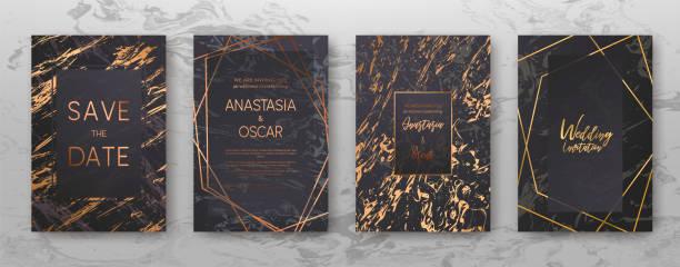 gold, schwarz, weiss marmor vorlage, künstlerische umfasst design. - kupfer stock-grafiken, -clipart, -cartoons und -symbole
