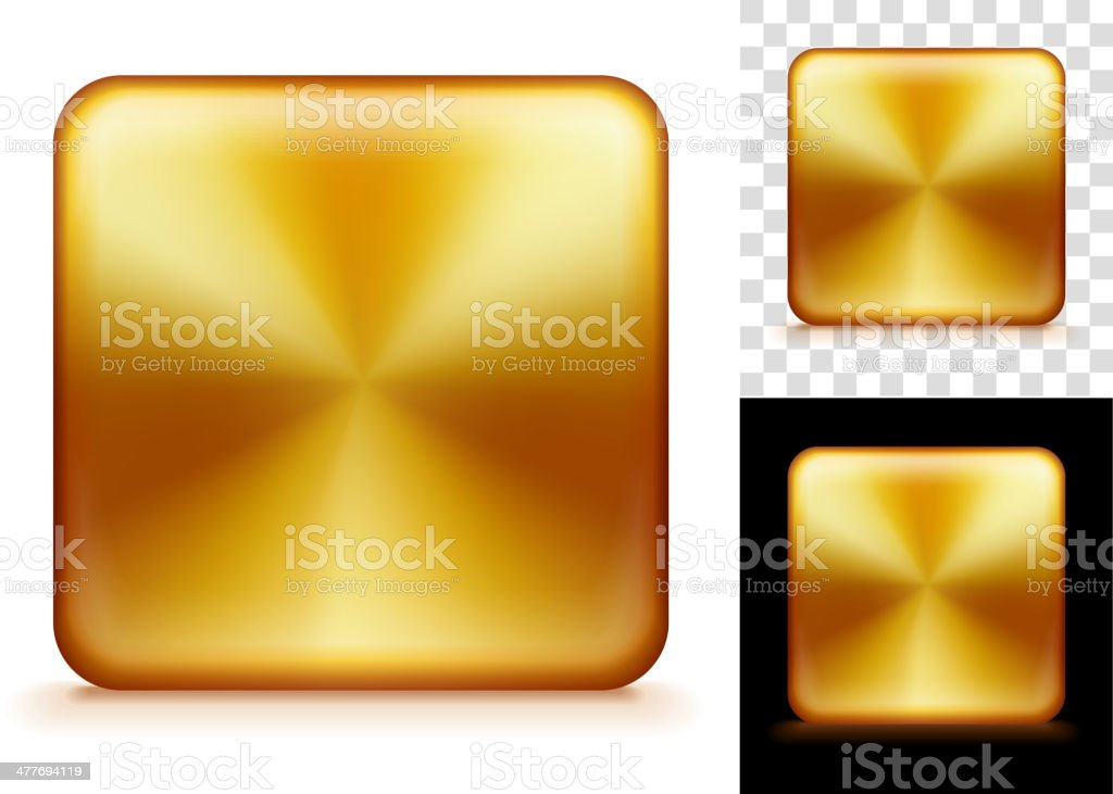 Gold Blank Square Background Set royalty-free stock vector art