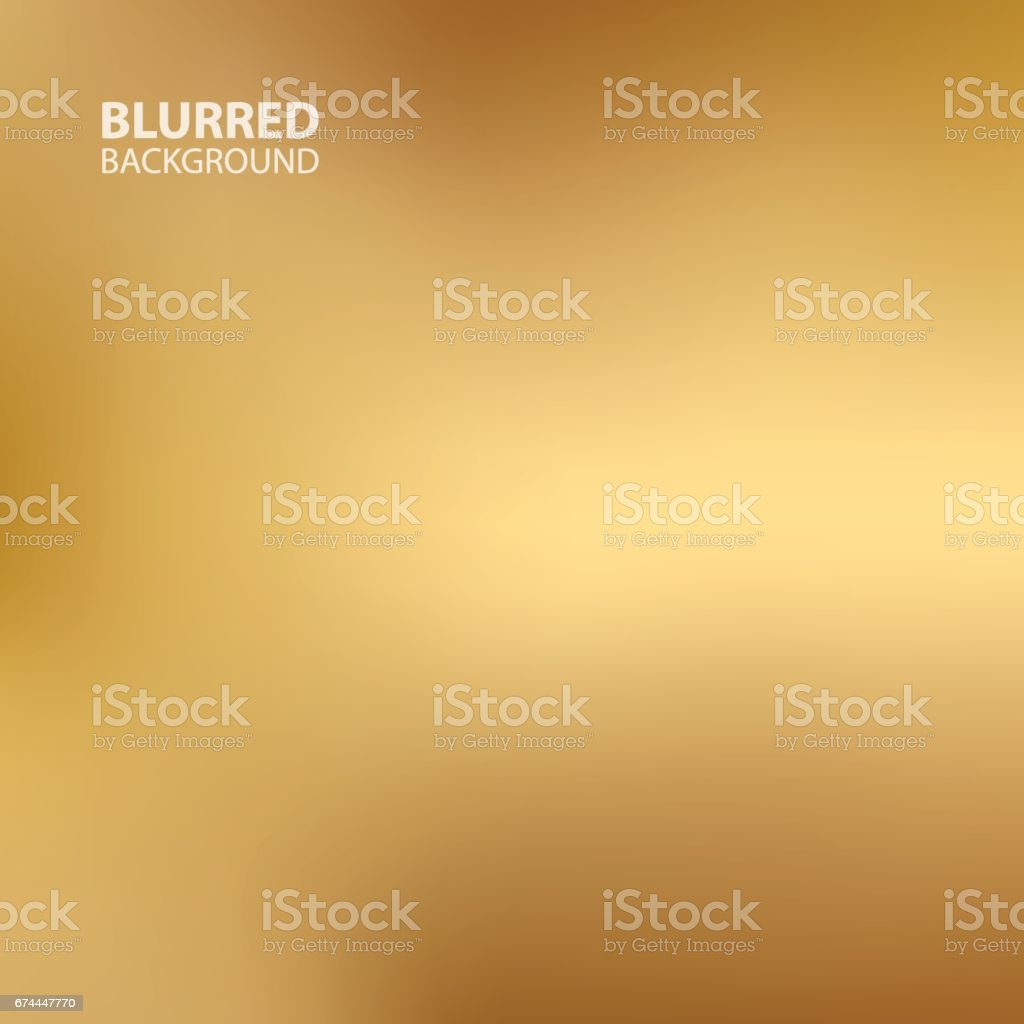 Gold blurred background. vector art illustration