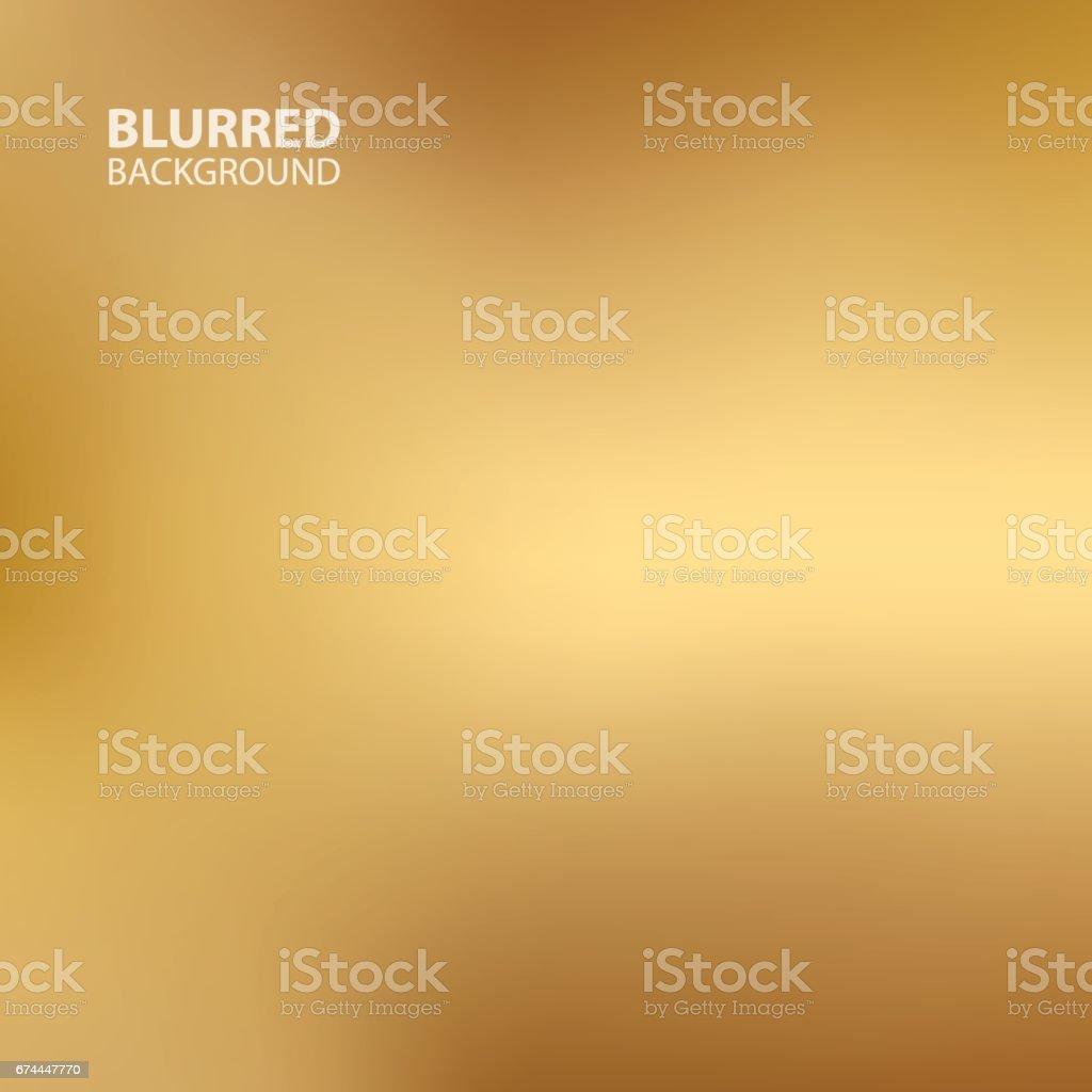 Gold blurred background. vector art illustration