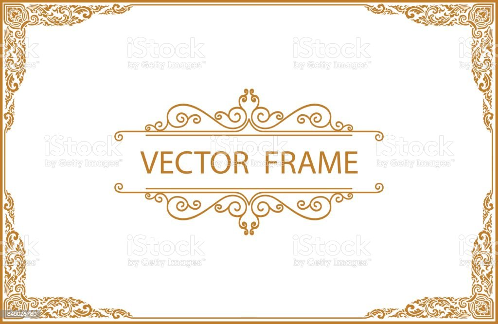 Gold border design frame photo template certificate template with gold border design frame photo template certificate template with luxury and modern pattern yelopaper Image collections