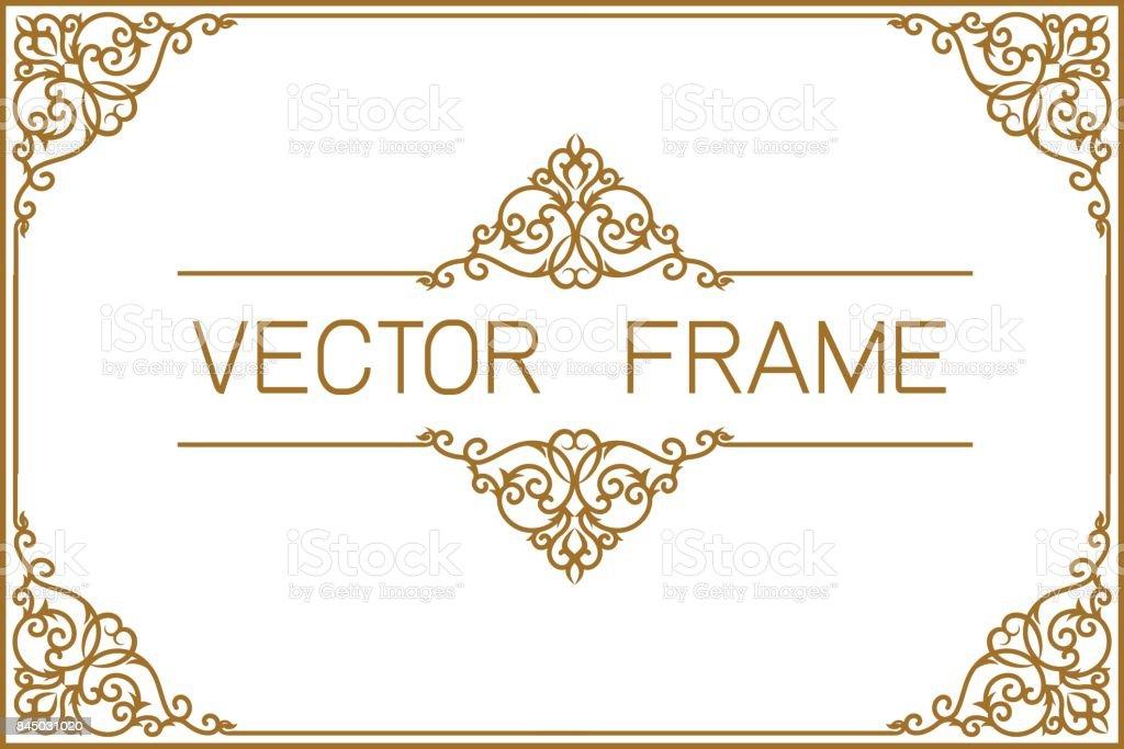 Borda de ouro design, molduras para fotos modelo, modelo de certificado com luxo e padrão moderno, diploma, ilustração vetorial - ilustração de arte em vetor