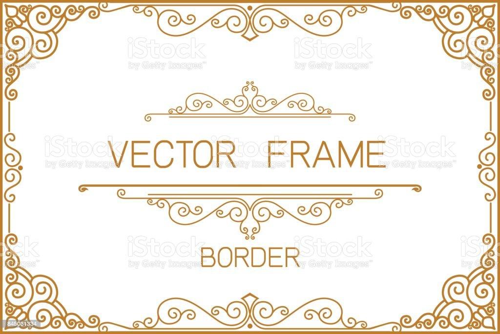 Gold Bordürenmuster Rahmen Foto Vorlage Vorlage Mit Luxus Und ...