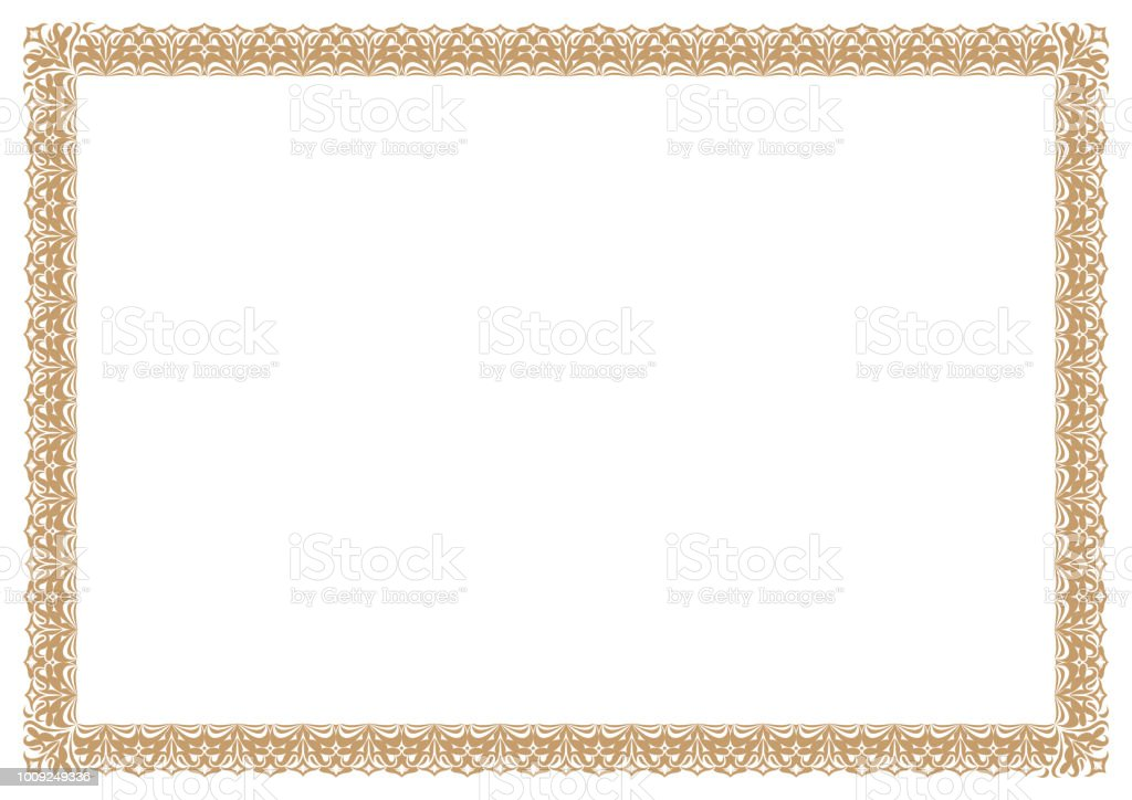 Gold Border for certificates royalty-free gold border for certificates stock illustration - download image now