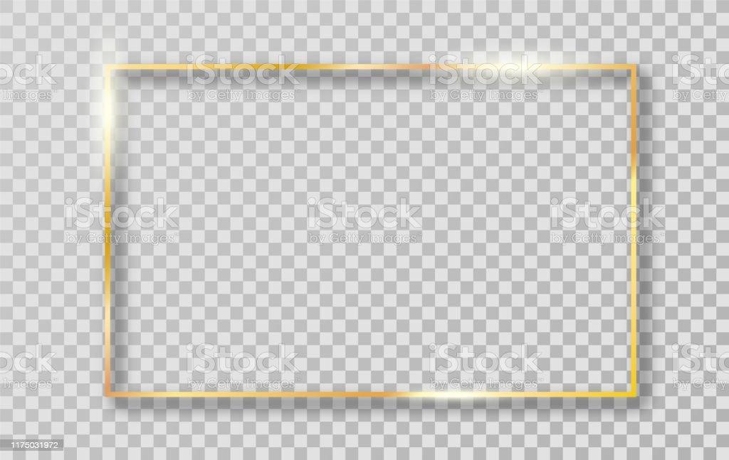 Cadre de bordure d'or pour la décoration. - clipart vectoriel de Abstrait libre de droits