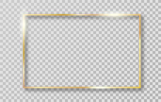 Gold border frame for decoration.