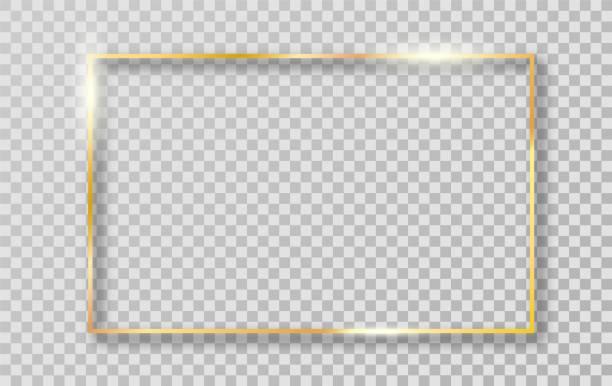 用於裝飾的黃金邊框框架。 - 有邊框的 幅插畫檔、美工圖案、卡通及圖標