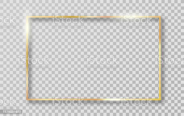 Cadre De Bordure Dor Pour La Décoration Vecteurs libres de droits et plus d'images vectorielles de Abstrait