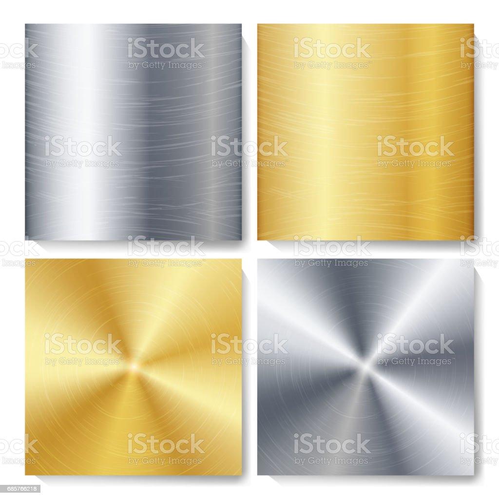 Ilustración de Oro Bronce Plata Acero Metal Tecnología Abstracta ...