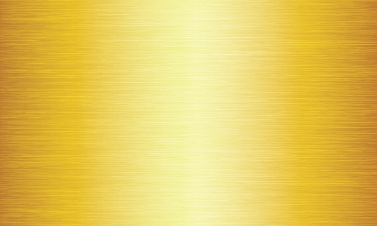 Gold Brushed Metal Texture Abstract Vector Background