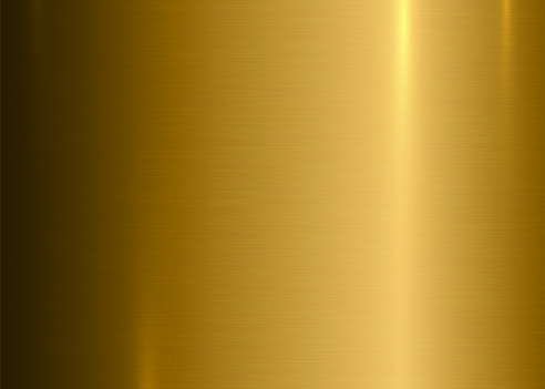 Gold Brushed Surface Texture Background Metallic