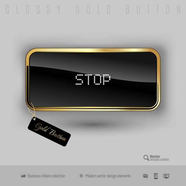 """gold """"mit schwarz glänzend innen - schlüsselfertig stock-grafiken, -clipart, -cartoons und -symbole"""
