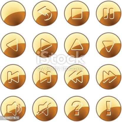 istock Gold buttons - normal 165607820