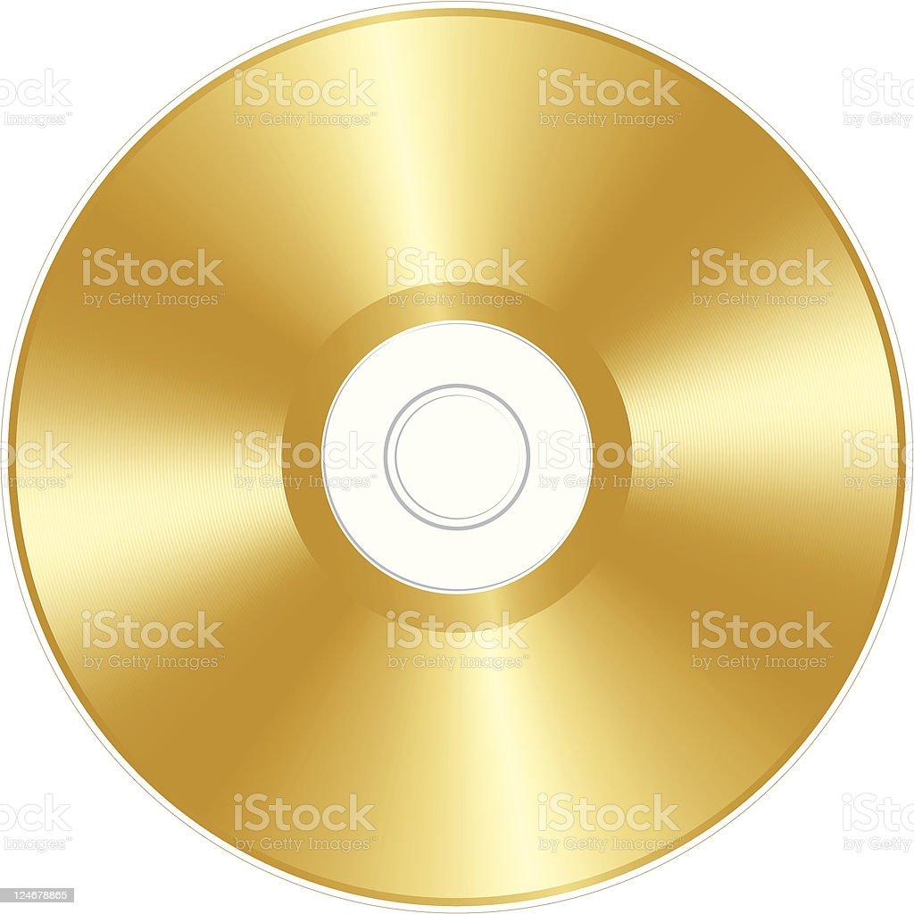 Gold CD vector art illustration