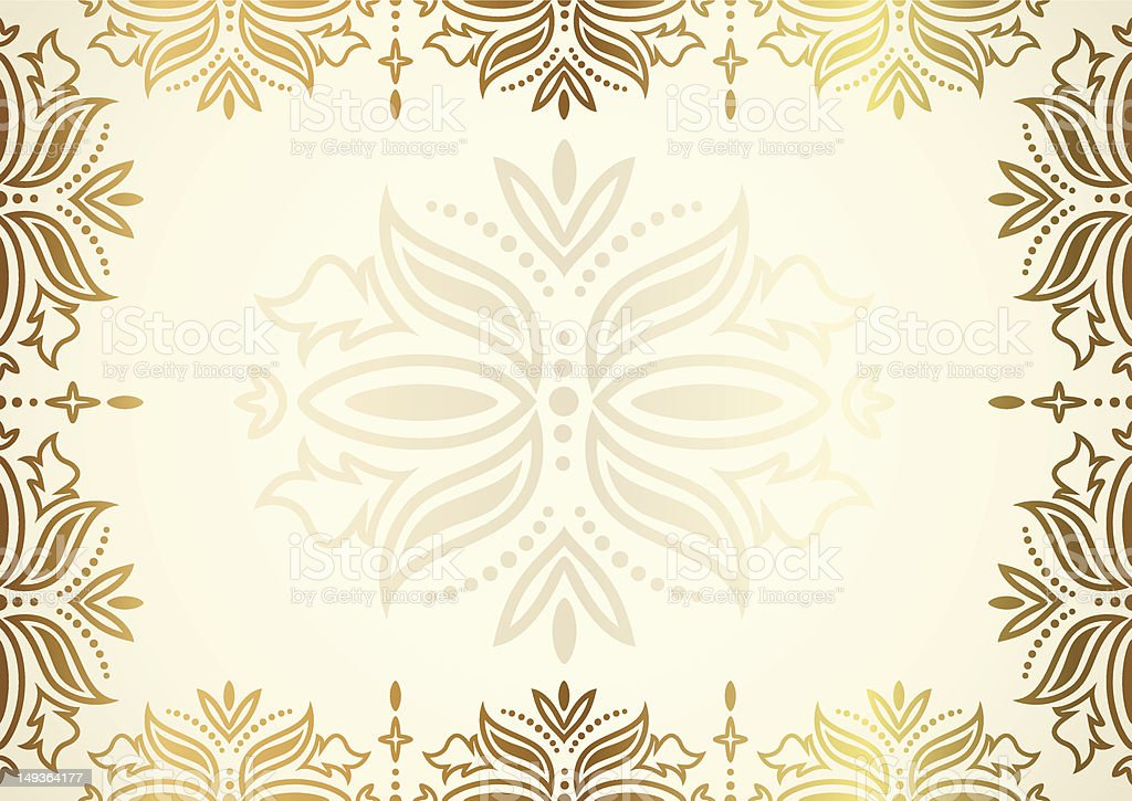 Gold Certificate Diploma Invitation Gift Voucher Coupon Background ...